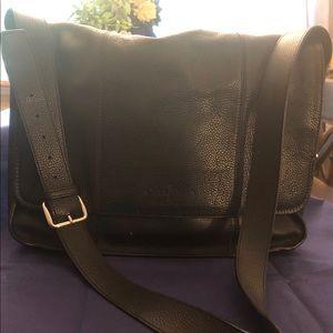 Cole Haan Black Leather Laptop Bag Men or Women